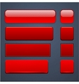 Red high-detailed modern web buttons vector