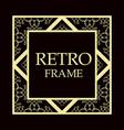 retro ornamental frame vector image vector image