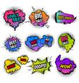 sale comic style set vector image