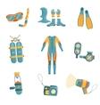 Scuba Diving Gear Set vector image