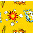 seamless pattern cartoon comic super speech bubble vector image