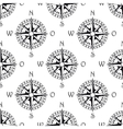 Seamless pattern of a vintage compass vector image vector image
