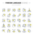 set line icons foreign language vector image