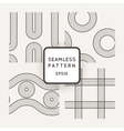 Set of seamless patterns of striped vector image vector image