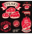 set template for grilling barbecue steak house vector image vector image
