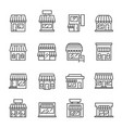 shop or store line icon set vector image