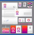 skiing club identity labels set vector image