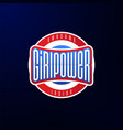 sport emblem typography super girl power hero vector image vector image