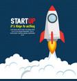 start up launcher rocket vector image