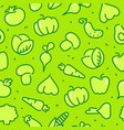 stylized outlines of vegetables seamless vector image vector image