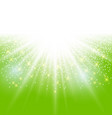 sunlight effect sparkle on green background with vector image vector image