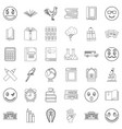 surprised icons set outline style vector image vector image