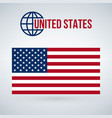 united states flag isolated on modern background vector image vector image