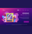 vending machine service concept landing page vector image vector image