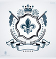 vintage emblem made in heraldic design with royal vector image vector image