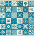 vintage oriental moroccan tiles patterns set vector image vector image
