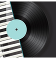 vinyl piano background vector image vector image