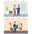 working task and business meeting office workers vector image vector image
