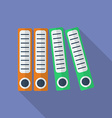 Office folders icon Modern Flat style with a long vector image