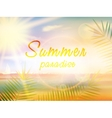 Summer holidays - typographic design template vector image