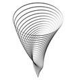 abstract whirlpool geometric tornado vector image