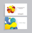 abstract geometric creative business cards vector image vector image
