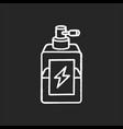 antistatic hair sprayer chalk white icon on black vector image