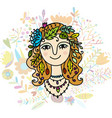 autumn girl sketch for your design vector image vector image
