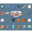 Back to School Flat design modern school building vector image vector image