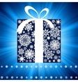 Blue burst with gift box EPS 8 vector image