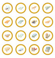 bridge set icon circle vector image