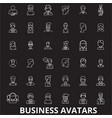 business avatars editable line icons set on vector image vector image