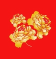Chinese New Year Blooming Peony Flower Design vector image vector image