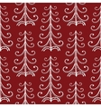 Christmas trees vintage seamless pattern vector image