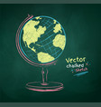color chalk drawn globe vector image vector image