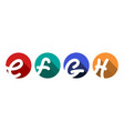 creative capital letters e f g h inscribed in a vector image