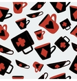 Cups Cards Suits from Alice Adventures vector image vector image