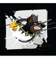 Doberman grunge styled print vector image vector image