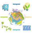 ecology problems and real solutions vector image vector image