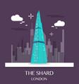 famous london landmark shard vector image vector image