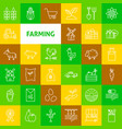 farming line icons vector image vector image