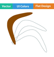 Flat design icon of boomerang vector image