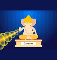 ganesha give blessing in cartoon style art vector image