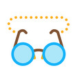 glasses for sight icon outline vector image