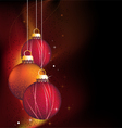 glowing Christmas background vector image vector image