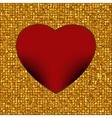gold frame in shape heart eps 8 vector image vector image