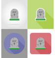 halloween flat icons 06 vector image