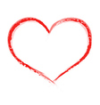 Heart shape painted with brush vector image vector image