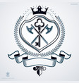 heraldic coat of arms made in retro design vector image vector image