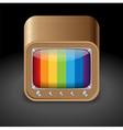 Icon for television set vector image vector image